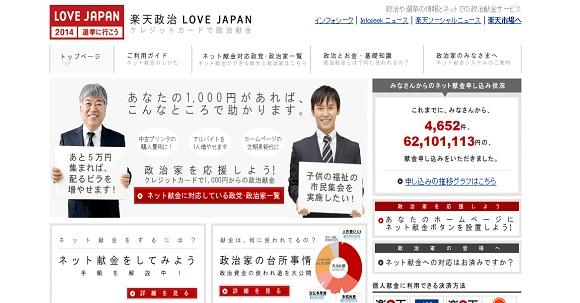 楽天政治LOVE JAPAN